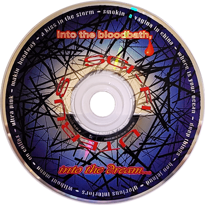 Into the Bloodbath, Into the Dream... CD label